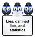 Statistics lies damned lies and quotation isolated on white background Royalty Free Stock Photos
