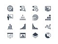 Statistics and report icons easy to edit modify Stock Images