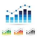 Stats Icons Royalty Free Stock Photography