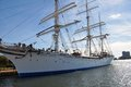 Statsraad lehmkuhl an image of the tall ship in norfolk virginia Royalty Free Stock Photos