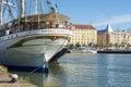 Statsraad Lehmkuhl moored in Helsinki Royalty Free Stock Photo