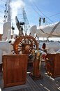 Statsraad Lehmkuhl Wheel Royalty Free Stock Photo