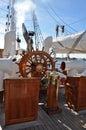Statsraad Lehmkuhl Wheel Royalty Free Stock Photo