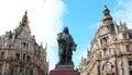 Statua david teniers w mieście antwerpen belgia Obraz Stock