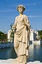 Statua przy Uderzenia Pa-In Pałac Zdjęcia Stock
