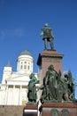 Statua rosyjski car aleksander ii helsinki Obraz Royalty Free