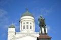 Statua rosyjski car aleksander ii helsinki Fotografia Royalty Free