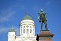 Statua rosyjski car aleksander ii helsinki Obrazy Royalty Free