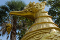 Statuary gold brid designs thailand Royalty Free Stock Photos