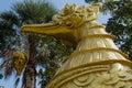 Statuary gold brid designs thailand Royalty Free Stock Photos