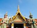 Statue 2 Giant gaurd at Wat Phra Kaew , Bangkok Stock Image