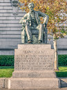 Statue of abraham lincoln at civic center plaza and city hall of san francisco california Stock Images