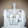 Statue of abraham lincoln memorial washington dc Stock Photos