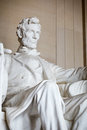 Statue of abraham lincoln memorial washington dc Stock Photo