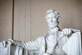 Statue of abraham lincoln memorial washington dc Royalty Free Stock Images