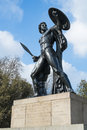 Statue of achilles in hyde park london uk dedicated to the duke wellington and forget with the bronze from captured cannons Royalty Free Stock Photography