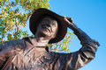 Statue actor walter brennan welcomes people to camarillo s old town Stock Photography