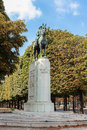 A statue of Albert I, King of the Belgians Royalty Free Stock Photo