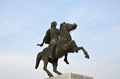 Statue of alexander the great in thessaloniki greece Stock Photo