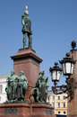 Statue of alexander ii helsinki the monument to the liberator at the senate square in Royalty Free Stock Photography