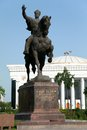 Statue of Amir Temur in Tashkent - Uzbekistan Royalty Free Stock Photo