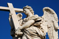 Statue of an angel, Bridge of Saint Angel, Rome Stock Photo