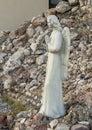 Statue of an angel outside Saint Mary Catholic Church in Marfa, Texas. Royalty Free Stock Photo