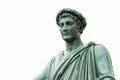 Statue of armand emmanuel sophie septimanie de vignerot du plessis duke richelieu in a roman toga and laurel wreath odessa Royalty Free Stock Images