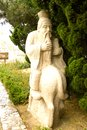 Statue of Asian scholar. Royalty Free Stock Photo