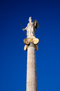 The statue of Athena. Athens, Greece. Stock Photos