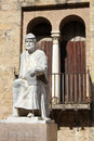 Statue of Averroes in Cordoba Royalty Free Stock Photo