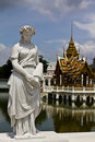 Statue at Bang Pa-In Palace Ayutthaya Thailand Royalty Free Stock Photography