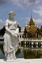 Statue at Bang Pa-In Palace Ayutthaya Thailand Royalty Free Stock Photography