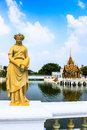 Statue at bang pa in palace thailand summer of the thai king Stock Image