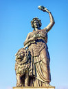 Statue of bavaria famous at the theresienwiese in munich germany Royalty Free Stock Photos