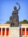 Statue of bavaria famous at the theresienwiese in munich germany Royalty Free Stock Image