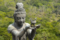 Statue at Big Buddha, Lantau Island, Hong Kong Royalty Free Stock Photo