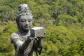 Statue at Big Buddha temple, Lantau Island, Hong Kong Royalty Free Stock Photo