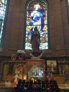 Statue of blessed mother Inside Basilica shrine of Saint Mary in Wilmington North Carolina United States