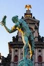 Statue of Brabo in Antwerp Royalty Free Stock Photo