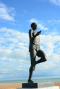 Statue of Brighton runner Steve Ovett Royalty Free Stock Photo
