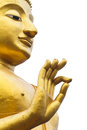 Statue of buddha part on white background Stock Photos
