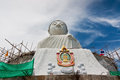 The statue buddhism construction in phuket Royalty Free Stock Photo