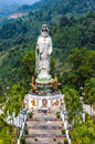 Statue of the buddhist goddess of mercy in the mountains southern thailand Stock Image