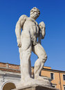 Statue of caco in udine italy Royalty Free Stock Image