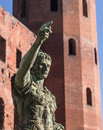 Statue of caesar torino italy Royalty Free Stock Photo