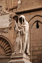Statue from the cathedral of palermo sicily an outdoor Royalty Free Stock Photography