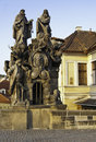 Statue on Charles Bridge, Prague Stock Photos