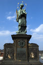 Statue on Charles Bridge , Prague , Czech republic Royalty Free Stock Photo