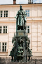 Statue of Charles IV (1848), Prague Royalty Free Stock Photo